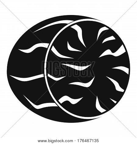 Half of nutmeg icon. Simple illustration of half of nutmeg vector icon for web