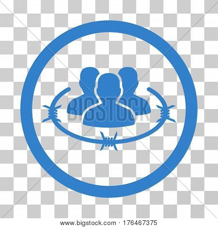 Concentration Camp icon. Vector illustration style is flat iconic symbol cobalt color transparent background. Designed for web and software interfaces.