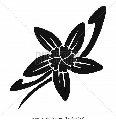 Vanilla sticks with a flower icon. Simple illustration of vanilla sticks with a flower vector icon for web