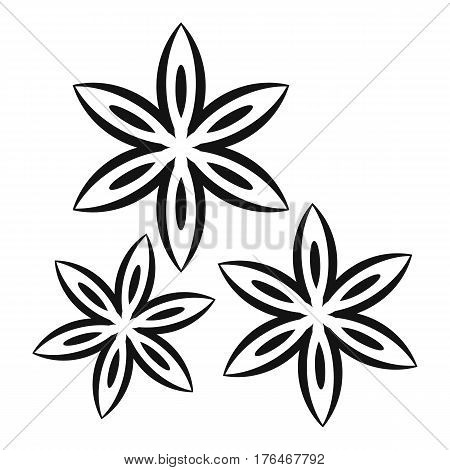 Star anise icon. Simple illustration of star anise vector icon for web