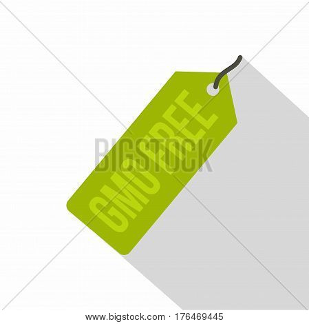 GMO free green price tag icon. Flat illustration of GMO free green price tag vector icon for web isolated on white background