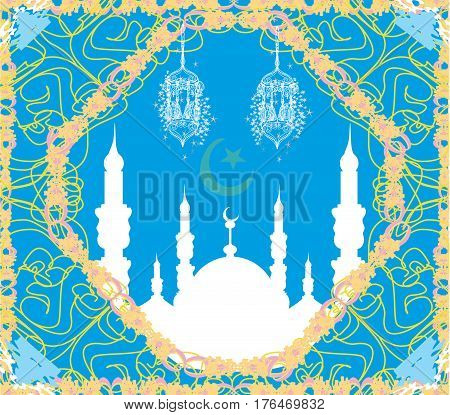 Ramadan Kareem Design card , vector illustration