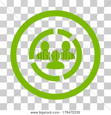 Demography Diagram icon. Vector illustration style is flat iconic symbol eco green color transparent background. Designed for web and software interfaces.