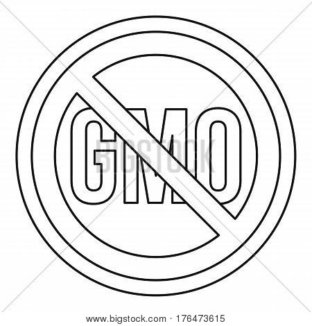 No GMO sign icon. Outline illustration of no GMO sign vector icon for web