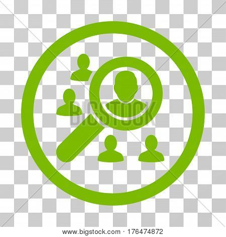 Search People icon. Vector illustration style is flat iconic symbol eco green color transparent background. Designed for web and software interfaces.