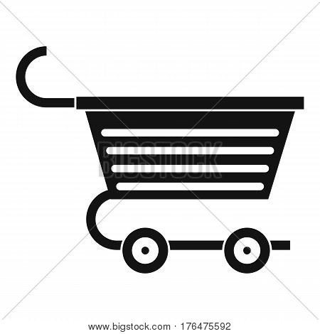Shopping trolley icon. Simple illustration of shopping trolley vector icon for web