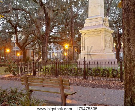 Monterey Square Historic District Savannah Ga