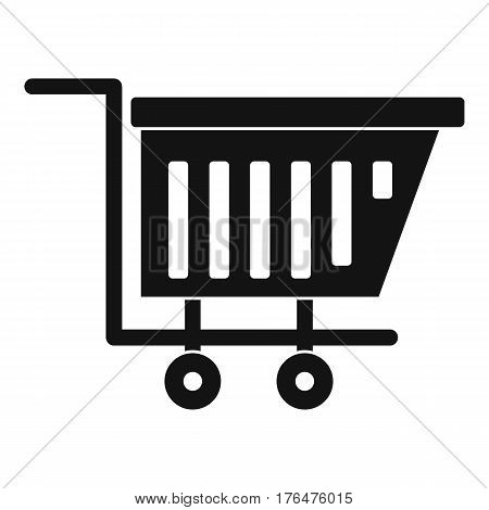 Empty plastic market trolley icon. Simple illustration of empty plastic market trolley vector icon for web