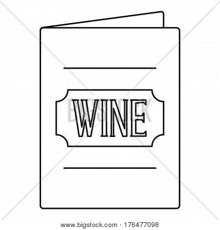 Wine menu icon. Outline illustration of wine menu vector icon for web