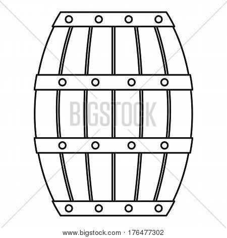 Wooden barrel icon. Outline illustration of wooden barrel vector icon for web