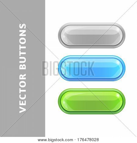 Bright Colored Buttons For Websites And Applications.