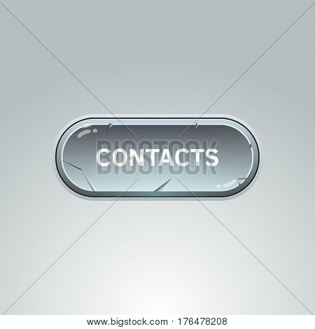 Button For Contacts On Gray Background.