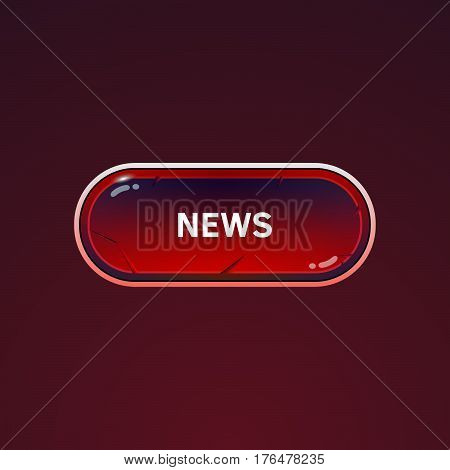 Button For News On A Dark Background.