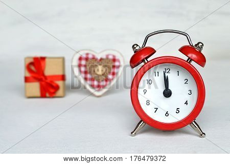 Midnight clock, Christmas decoration and Christmas gift