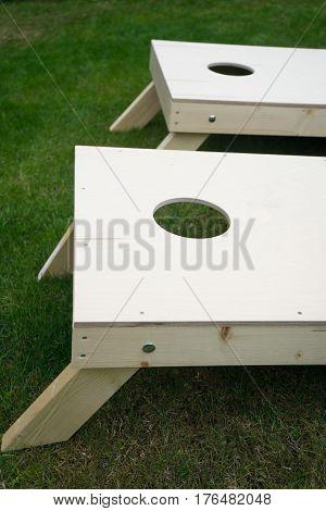 Wood Cornhole Boards Beanbag Toss Game Vertical