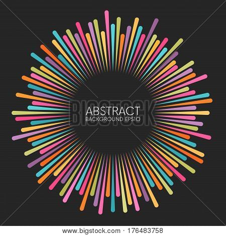 Abstract colorful rays background with place for your content. Vector illustration Eps 10