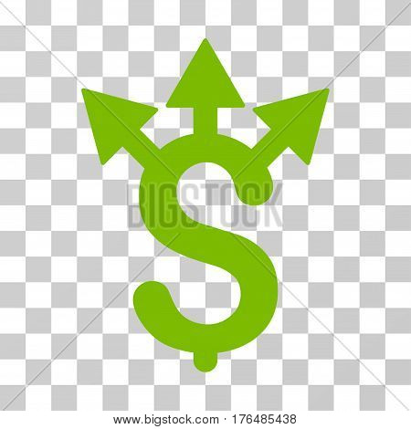 Expences icon. Vector illustration style is flat iconic symbol eco green color transparent background. Designed for web and software interfaces.