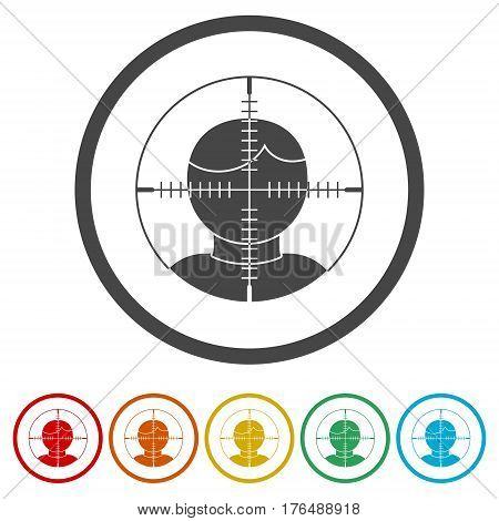 Target audience, User target icon on white background