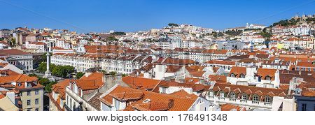 Panoramic View Of Lisbon Old Town, Portugal