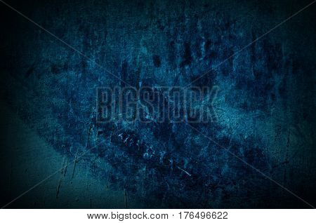 Dramatic dark turquoise old wall - background for your grunge design