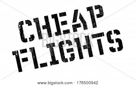 Cheap Flights stamp. Grunge design with dust scratches. Effects can be easily removed for a clean, crisp look. Color is easily changed.