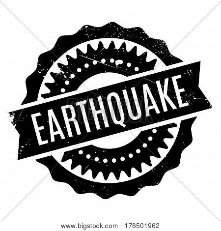 Earthquake stamp. Grunge design with dust scratches. Effects can be easily removed for a clean, crisp look. Color is easily changed.