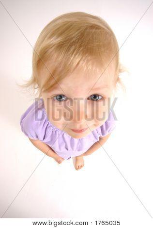 Little Girl Shot Wide Angle