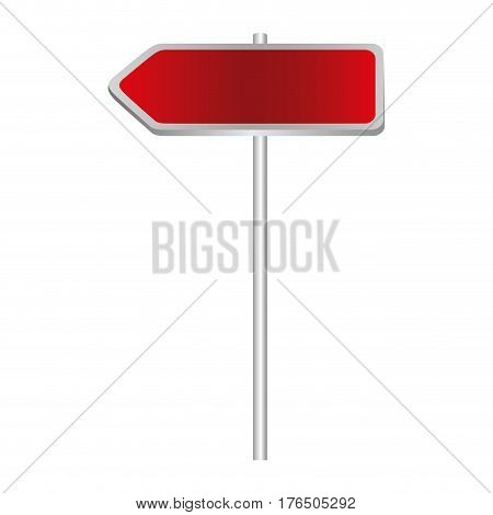 metallic red direction board road signs vector illustration