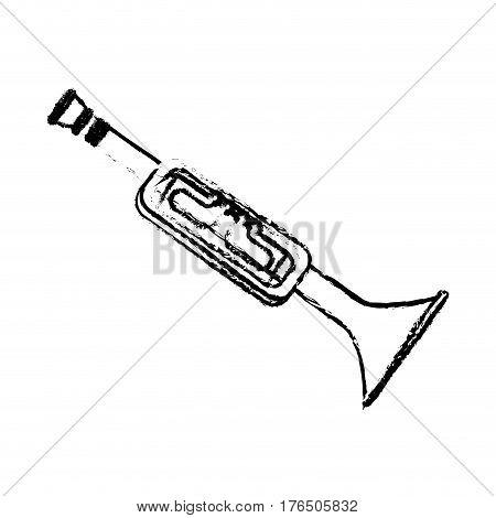 trumphet musical instrument icon vector illustration design