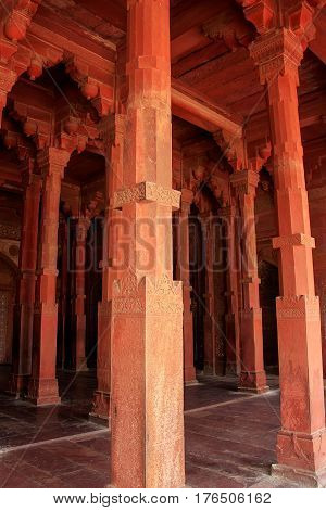 Interior Of Jama Masjid In Fatehpur Sikri, Uttar Pradesh, India