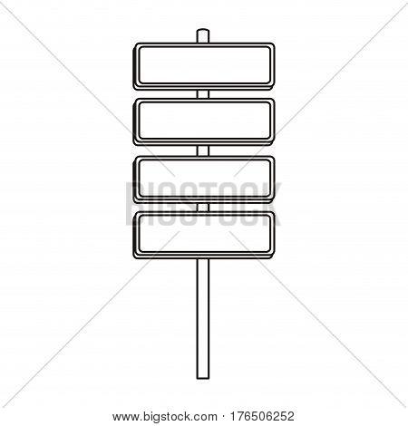 silhouette metallic plaque sign post set vector illustration