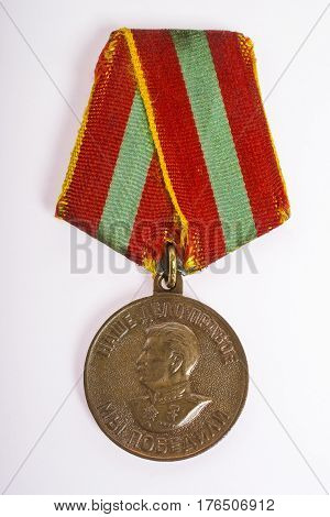 An old grandfather's medal award