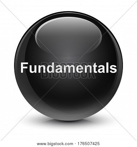 Fundamentals Glassy Black Round Button