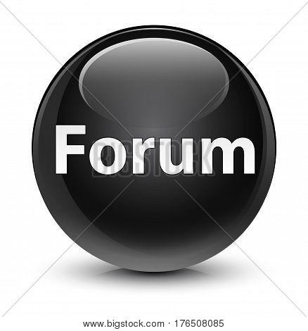 Forum Glassy Black Round Button