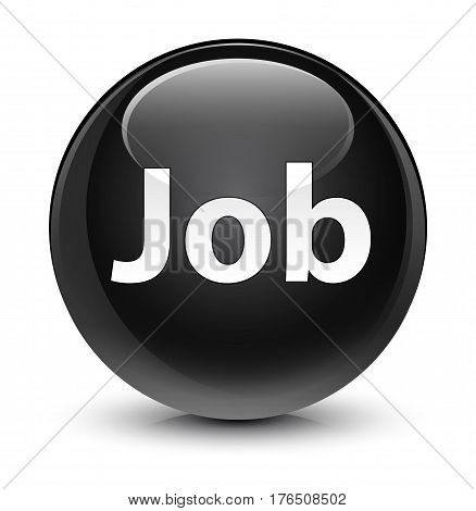 Job Glassy Black Round Button