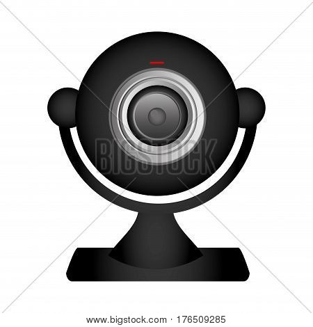 technology computer webcam icon, vector illustration design