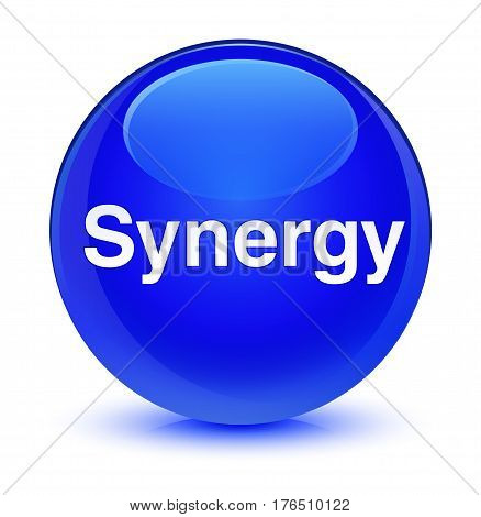 Synergy Glassy Blue Round Button