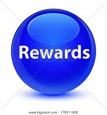 Rewards Glassy Blue Round Button