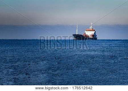Black Cargo Oil Tanker