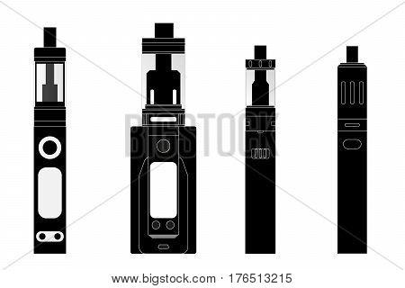 four e cigarette model vector drawing illustrator