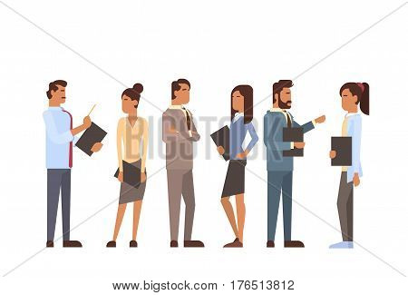 Indian Business People Group Human Resources Teamwork Concept Flat Vector Illustration