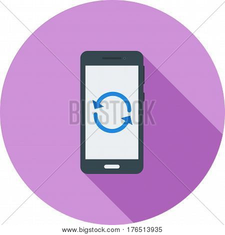 Phone, mode, reset icon vector image. Can also be used for smartphone. Suitable for mobile apps, web apps and print media.