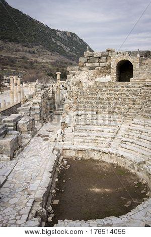 Odeon ampitheatre in the ancient city of Ephesus Selcuk Turkey