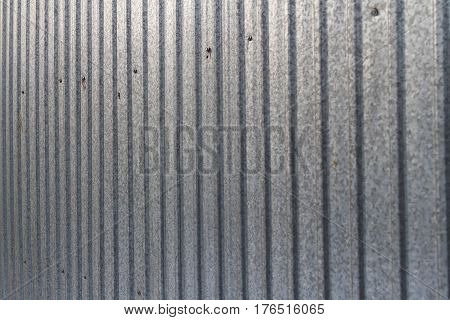 Fence Of Galvanized Iron