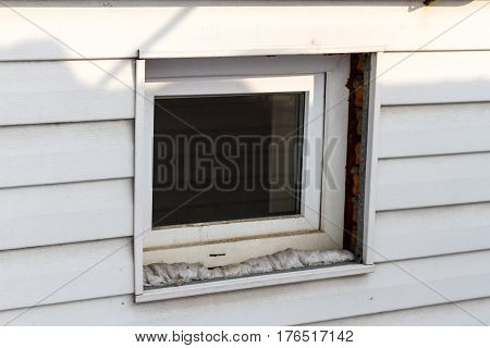 Plastic Window In The Siding