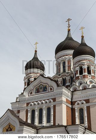 View of Alexander Nevsky Cathedral in Tallinn