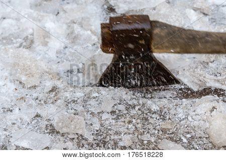 Cracking Ice Ax
