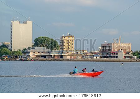 Labuan,Malaysia-March 15,2017:Labuan island city view on 15th Mac 2017 in Labuan,Malaysia.Labuan,Malaysia is a great place to travel and look around if visitors or tourists are on a family vacation or a family trip