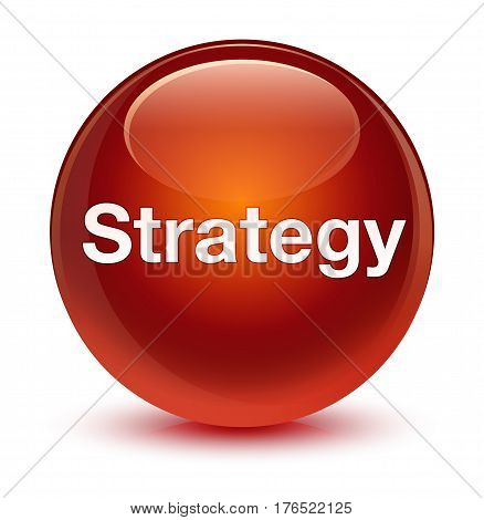 Strategy Glassy Brown Round Button