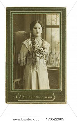 Original 1900S Antique Photo Of A Young Woman.